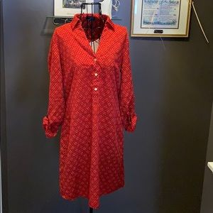 Red The limited tunic dress